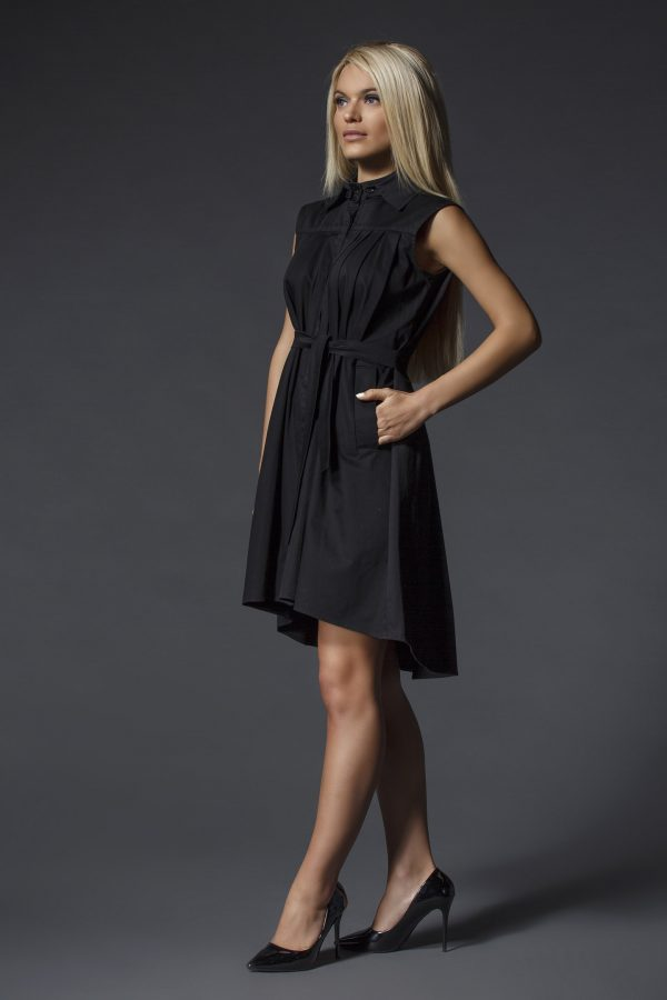 Black_Shirt_Dress_With_Removable_Collar_05