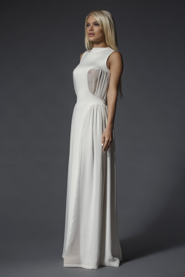 Long white dress with transparent details (2)
