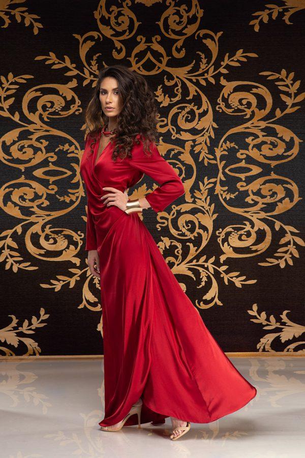Kalilah-long-dress-silk-dress-long-dress-V-neck-long-sleeves-silk-must-have-elegant-dress-evening-dress-prom-dress-summer-dress-trend-red-dress-stylish-clothing-women's-wear–(1)