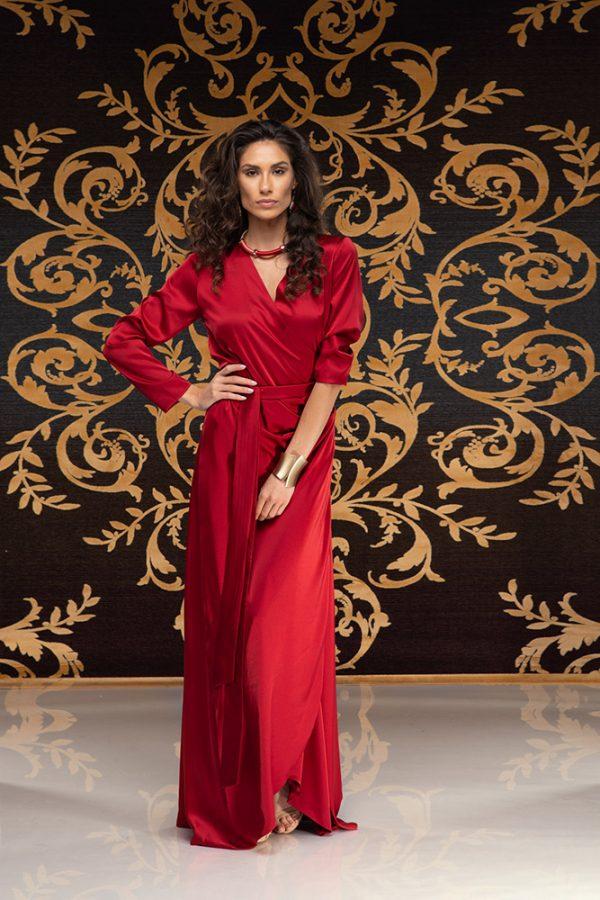 Kalilah-long-dress-silk-dress-long-dress-V-neck-long-sleeves-silk-must-have-elegant-dress-evening-dress-prom-dress-summer-dress-trend-red-dress-stylish-clothing-women's-wear–(2)
