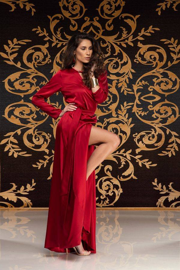 Kalilah-long-dress-silk-dress-long-dress-V-neck-long-sleeves-silk-must-have-elegant-dress-evening-dress-prom-dress-summer-dress-trend-red-dress-stylish-clothing-women's-wear–(3)
