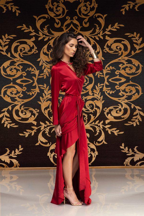 Kalilah-long-dress-silk-dress-long-dress-V-neck-long-sleeves-silk-must-have-elegant-dress-evening-dress-prom-dress-summer-dress-trend-red-dress-stylish-clothing-women's-wear–(4)