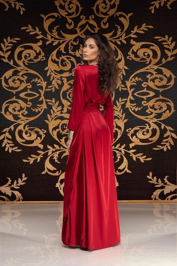 Kalilah-long-dress-silk-dress-long-dress-V-neck-long-sleeves-silk-must-have-elegant-dress-evening-dress-prom-dress-summer-dress-trend-red-dress-stylish-clothing-women's-wear–(5)