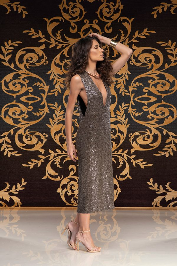 Latifa-dress-sequins-dress-elegant-dress-party-dress-evening-dress-cocktail-dress-must-have-trend-gold-dress-black-dress-stylish-clothing-women's-wear